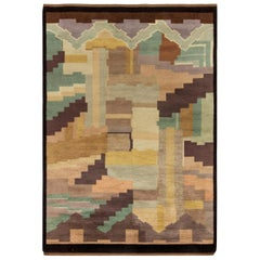 Midcentury French Art Deco Rug by Greta Skoaster Woven at Kiikan Kutamo Workshop