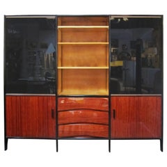 Midcentury French Bookshelf in Mahogany by Meubles Minvielle