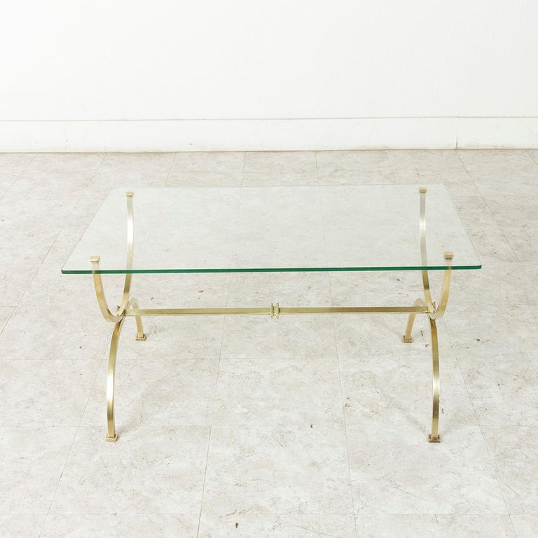 Midcentury French Brass Coffee Table Or Cocktail Table