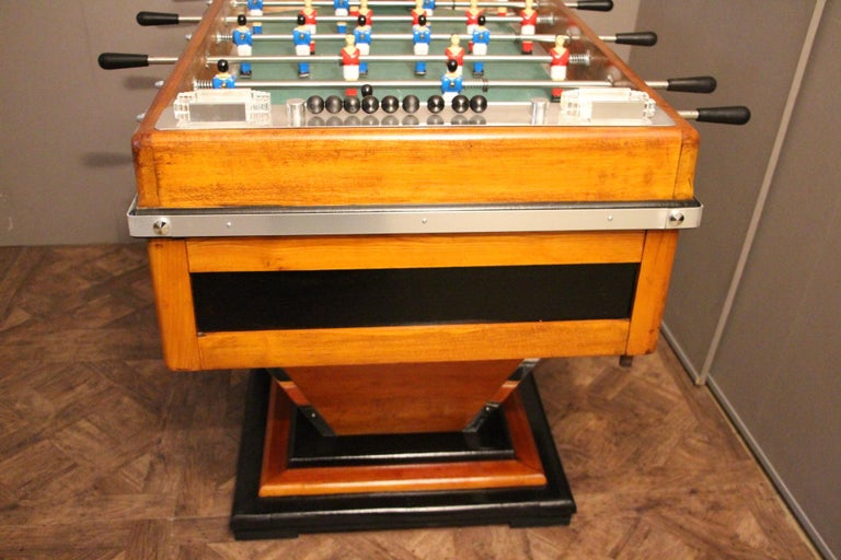 Midcentury French Café's Foosball Table, Football Game Table For Sale 5