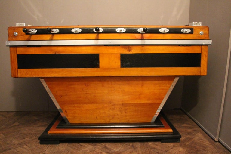 Midcentury French Café's Foosball Table, Football Game Table For Sale 8