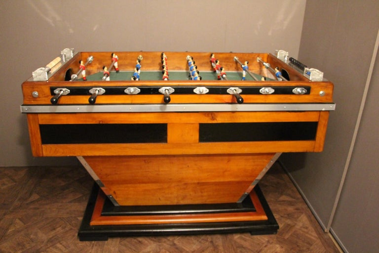 Midcentury French Café's Foosball Table, Football Game Table For Sale 9