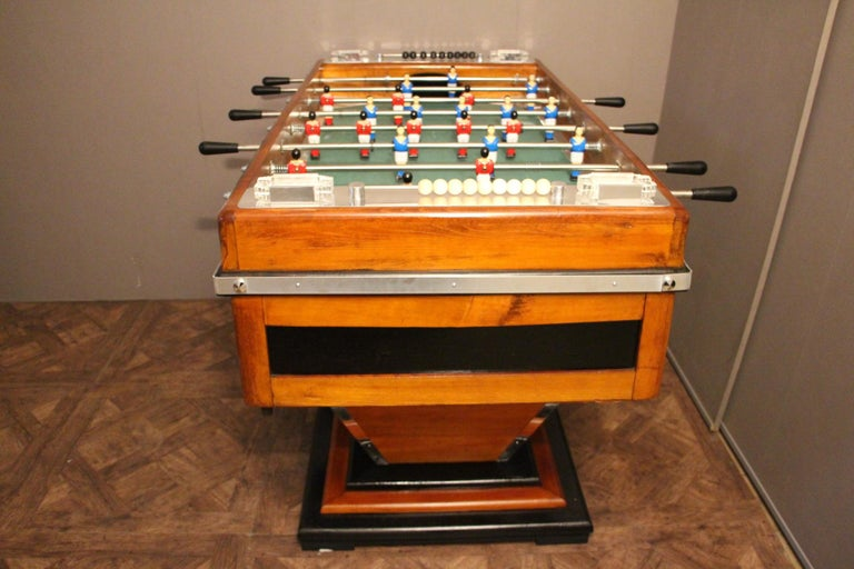 Midcentury French Café's Foosball Table, Football Game Table For Sale 10