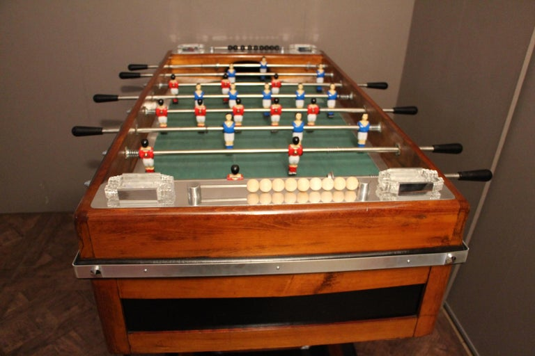 Midcentury French Café's Foosball Table, Football Game Table For Sale 12