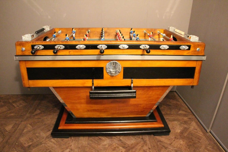 Mid-Century Modern Midcentury French Café's Foosball Table, Football Game Table For Sale