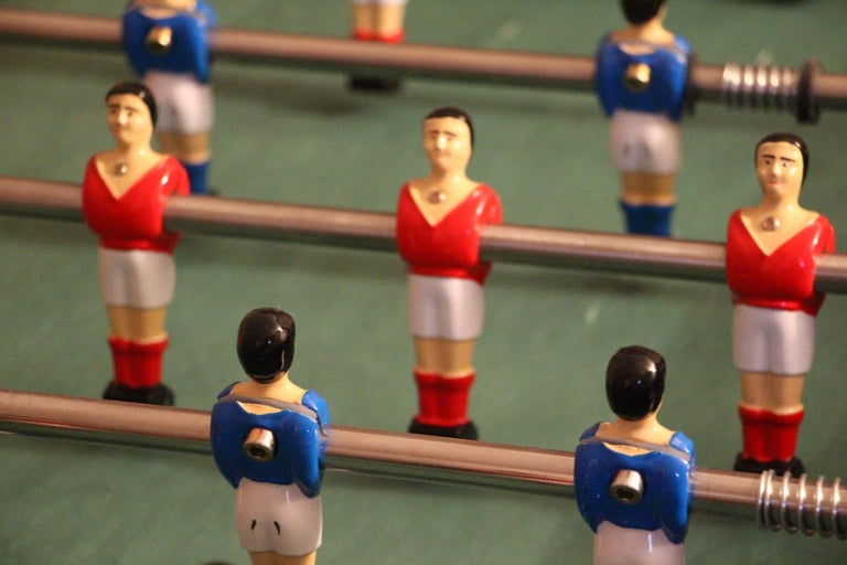 Midcentury French Café's Foosball Table, Football Game Table For Sale 1