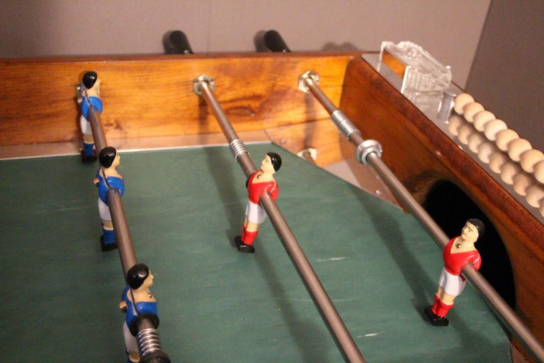 Midcentury French Café's Foosball Table, Football Game Table For Sale 3