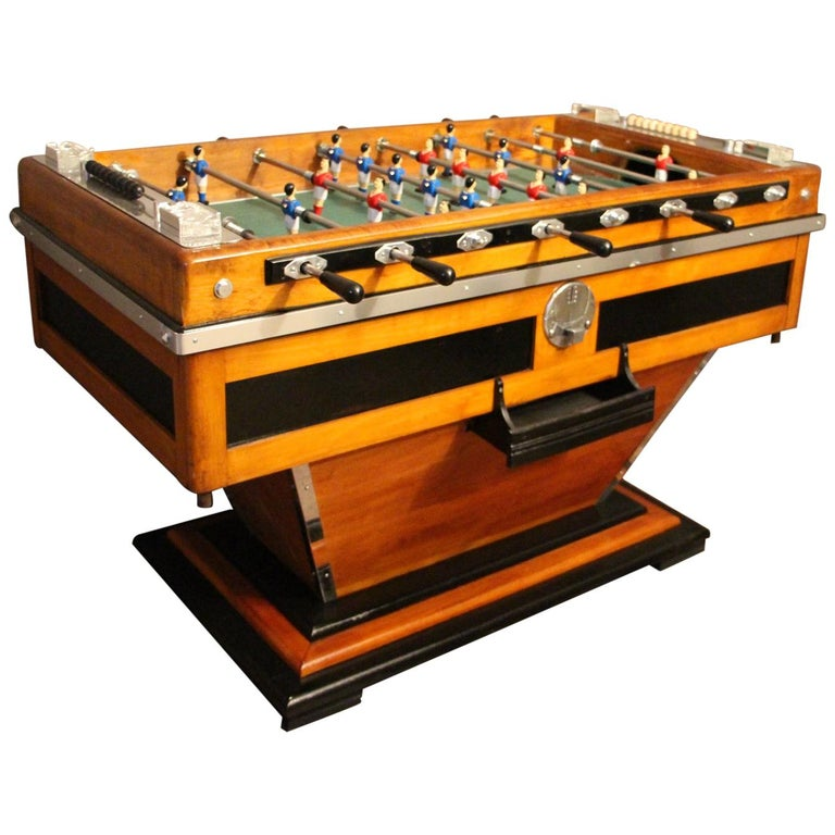 Midcentury French Café's Foosball Table, Football Game Table For Sale