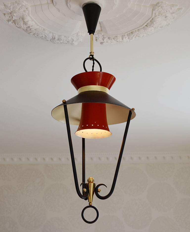 Midcentury French Ceiling Light, 1950s In Good Condition For Sale In Saint-Amans-des-Cots, FR