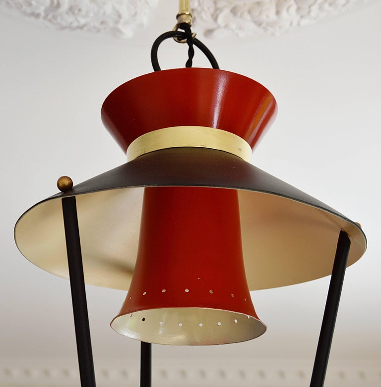 Midcentury French Ceiling Light, 1950s For Sale 1