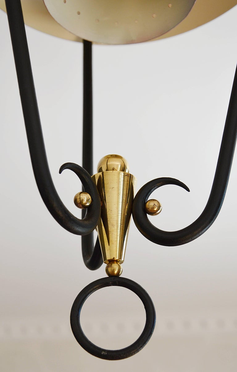 Midcentury French Ceiling Light, 1950s For Sale 2