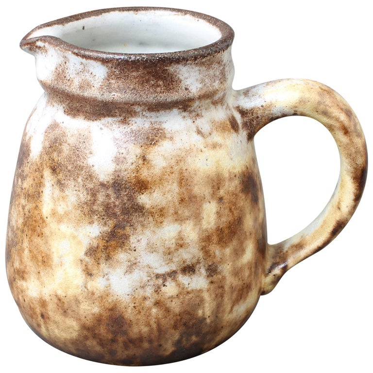Midcentury French Ceramic Jug by Alexandre Kostanda, circa 1960s, Small For Sale
