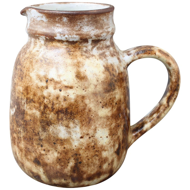 Midcentury French Ceramic Jug / Vase by Alexandre Kostanda, circa 1960s For Sale