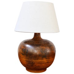 Midcentury French Ceramic Table Lamp by Jacques Blin 'circa 1950s'