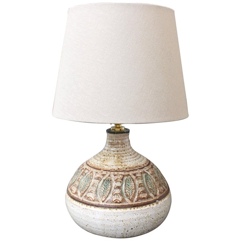 Midcentury French Ceramic Table Lamp by Marcel Giraud, circa 1960s For Sale