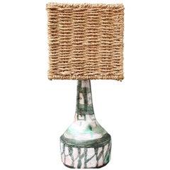 Midcentury French Ceramic Table Lamp, 'circa 1960s'