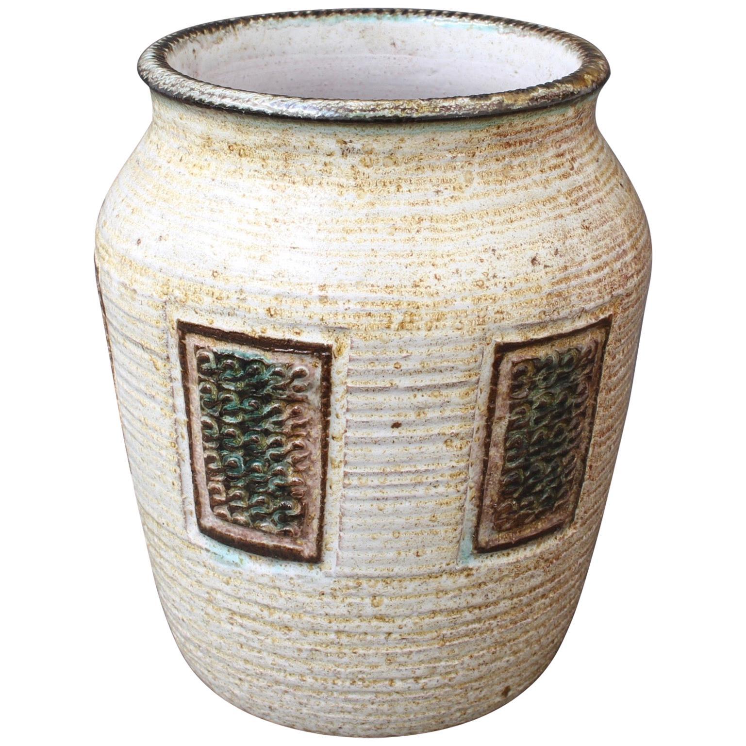 Midcentury French Ceramic Vase, Vallauris, circa 1960s