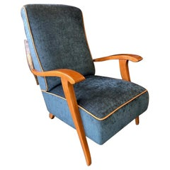 Midcentury French Chair in Beechwood