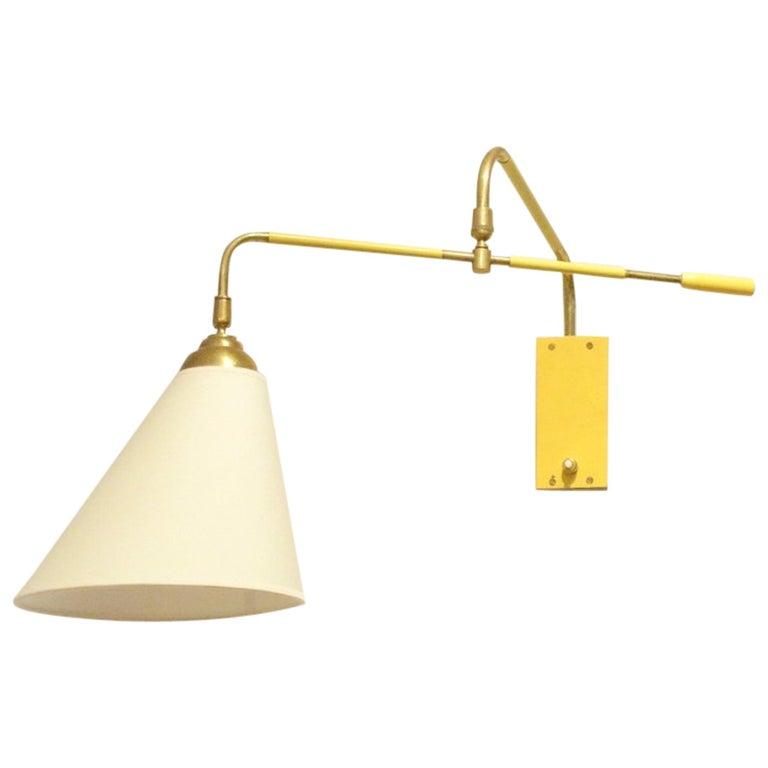 Mitte Des Jahrhunderts Franzosischen Maison Lunel Gelb Metall Und
