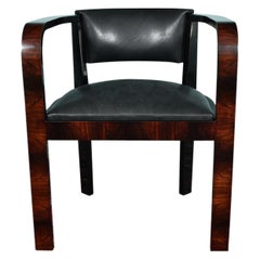 Midcentury French Office Chair in Walnut
