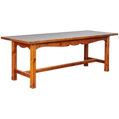 Midcentury French Pine Province Dining Table