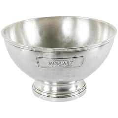 Midcentury French Silver Plate Jacquart Hotel Champagne Bucket for Four Bottles