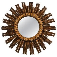 Midcentury French Starburst Sunburst Mirror