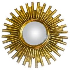 Midcentury French Sunburst Gilt Mirror