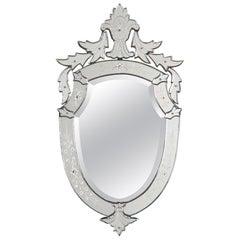 Midcentury French Venetian Glass Mirror, 1960s