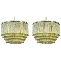 "Midcentury ""Fringe"" Ceiling Lamps by Hans Agne Jakobsson, Sweden, 1960s"