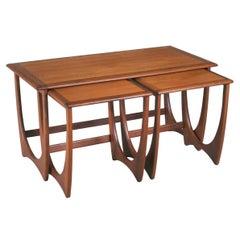Midcentury G Plan Astro Long John Teak Nest of Tables. c.1960