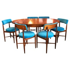 Midcentury G Plan 'Fresco' Dining Table & 6 x Chairs by V B Wilkins, 1960s
