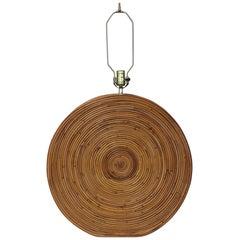 Midcentury Gabriela Crespi Style Italian Bamboo Table Lamp