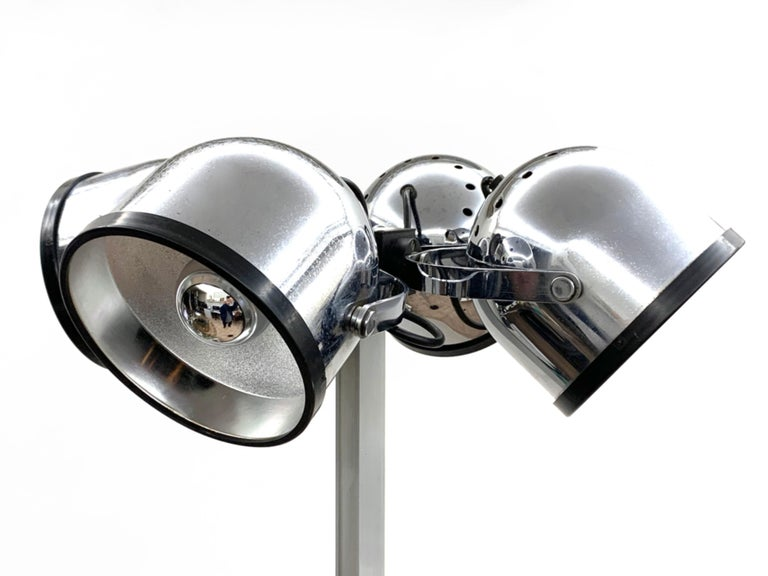 Late 20th Century Midcentury Gae Aulenti and Livio Castiglioni Italian Floor Lamp for Stilnovo For Sale