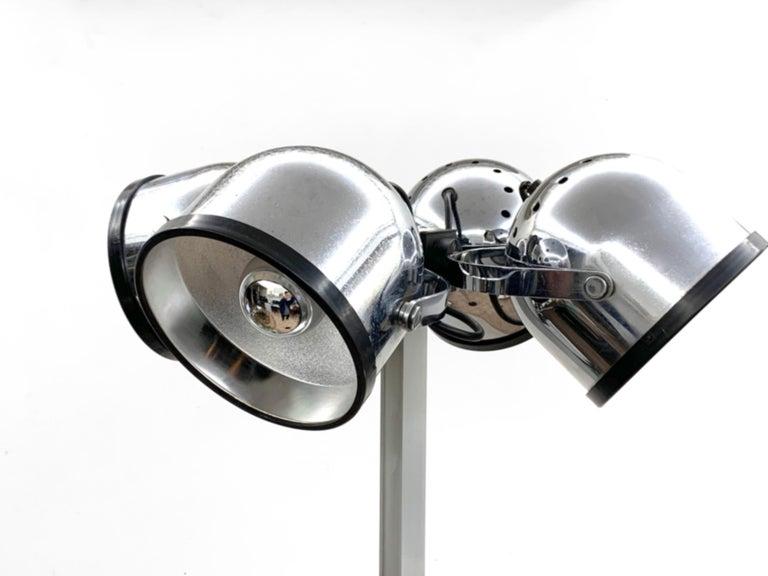 Chrome Midcentury Gae Aulenti and Livio Castiglioni Italian Floor Lamp for Stilnovo For Sale