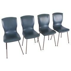 Midcentury Gastone Rinaldi Modern Dining Chairs Set of 4, 1960s, Italy