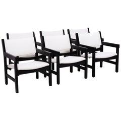 Midcentury GE 151 Dining Chairs by Hans J. Wegner for GETAMA, Set of 6