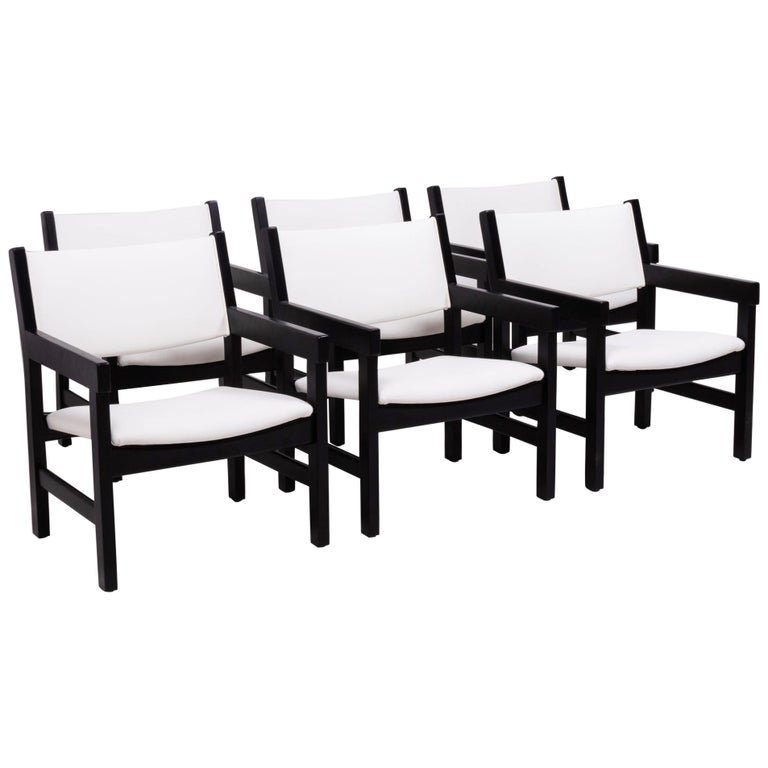 Midcentury GE 151 Dining Chairs by Hans J. Wegner for GETAMA, Set of 6 For Sale