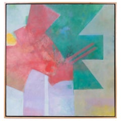Midcentury Geometric Abstract Painting