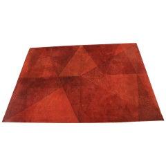 Midcentury Geometric Carpet or Rug