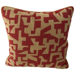 Midcentury Geometric Needlepoint Pillow