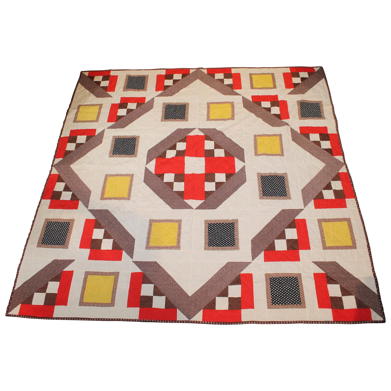 Midcentury Geometric Quilt