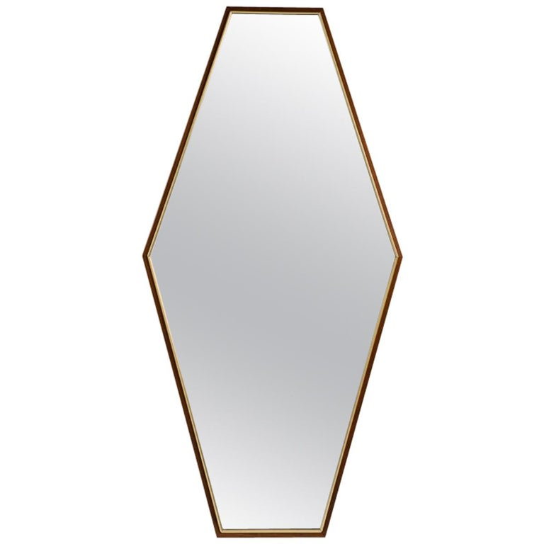 Midcentury Geometric Wall MIrrors, United States, 1969 For Sale