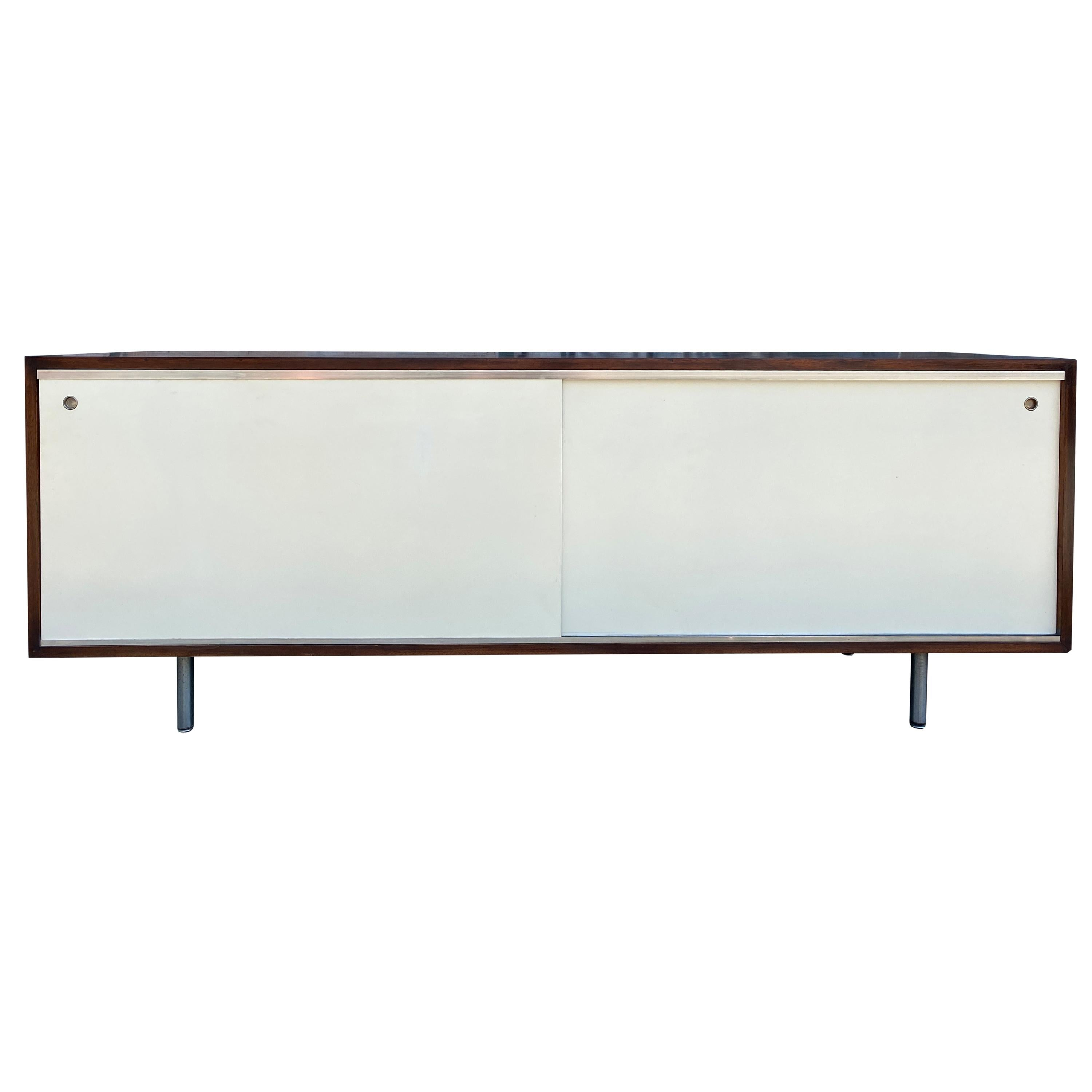 Midcentury George Nelson for Herman Miller Low Walnut Cabinet Credenza #5803