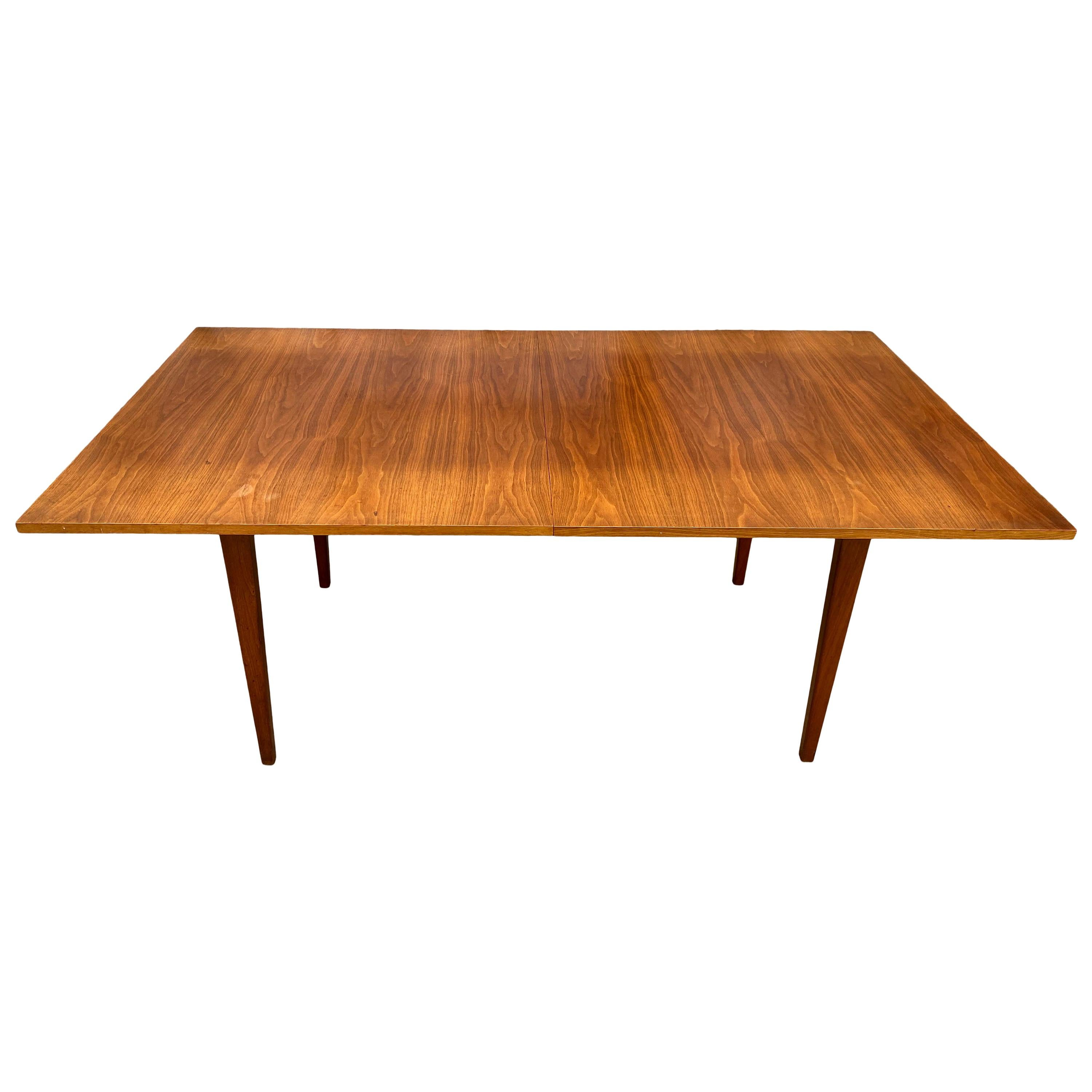 Midcentury George Nelson Herman Miller Expandable Dining Table with '2' Leaves