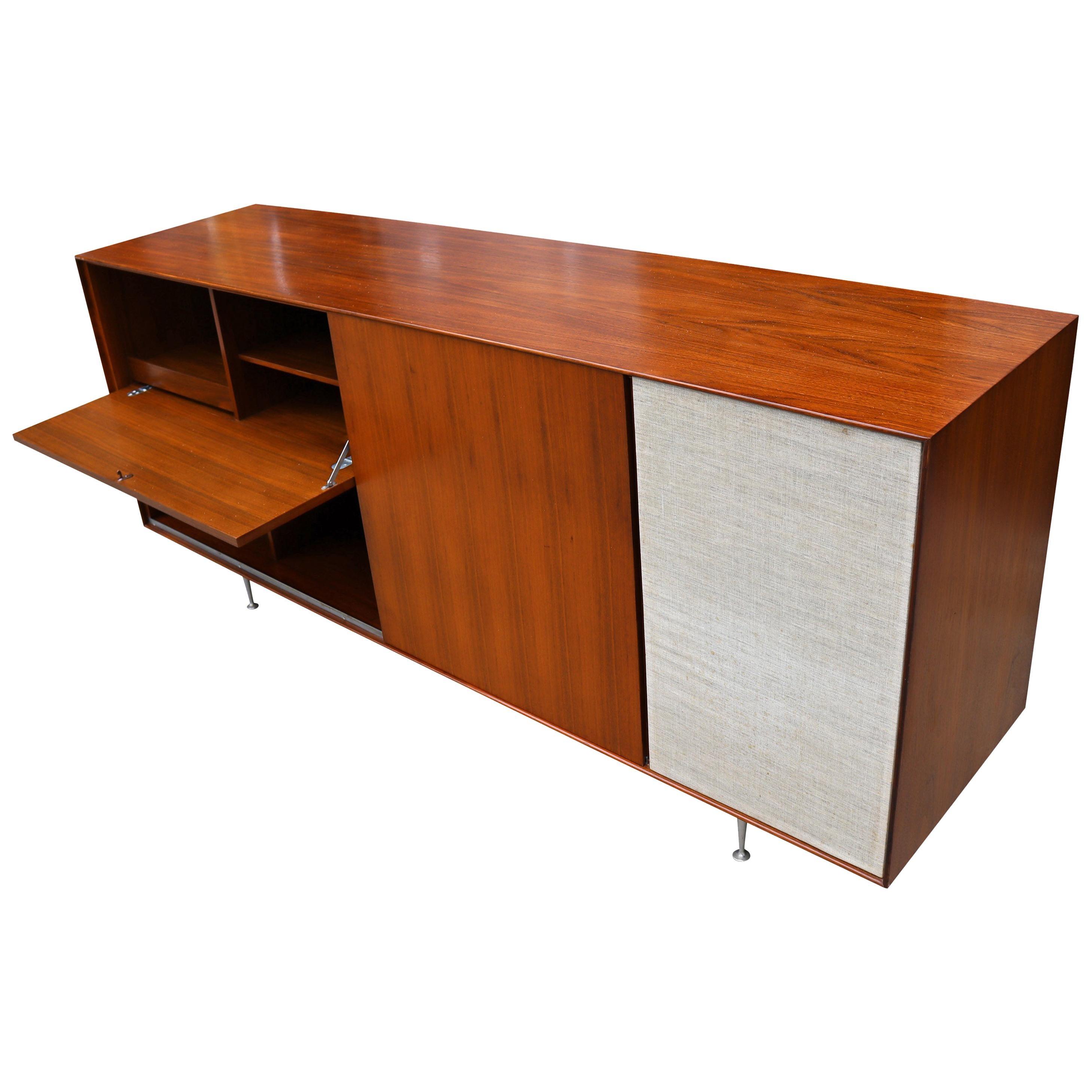 Midcentury George Nelson Hifi Cabinet Thin Edge for Herman Miller