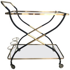 Midcentury German Bar Cart Drinks Trolley