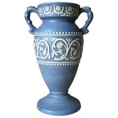 Midcentury German Blue Vase by Ü-Keramik