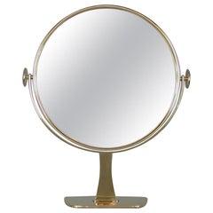 Midcentury German Brass Table Mirror by Vereinigte Werkstätten München, 1960s