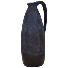 Midcentury German Ceramic Vase or Amphora in Blue, circa 1970